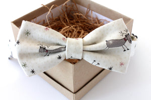 Tan Reindeer Children's Bow Tie