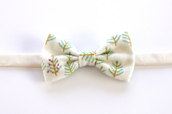 Christmas Tree Flannel Children's Bow Tie