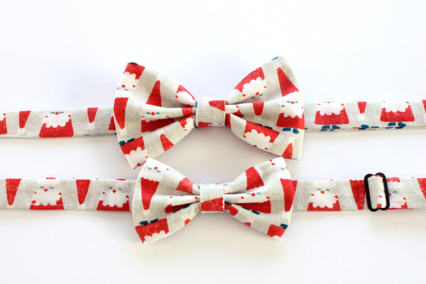 Red & Tan Santa Adult Bow Tie