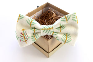 Christmas Tree Flannel Adult Bow Tie