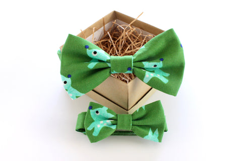 Green Reindeer Children's Bow Tie