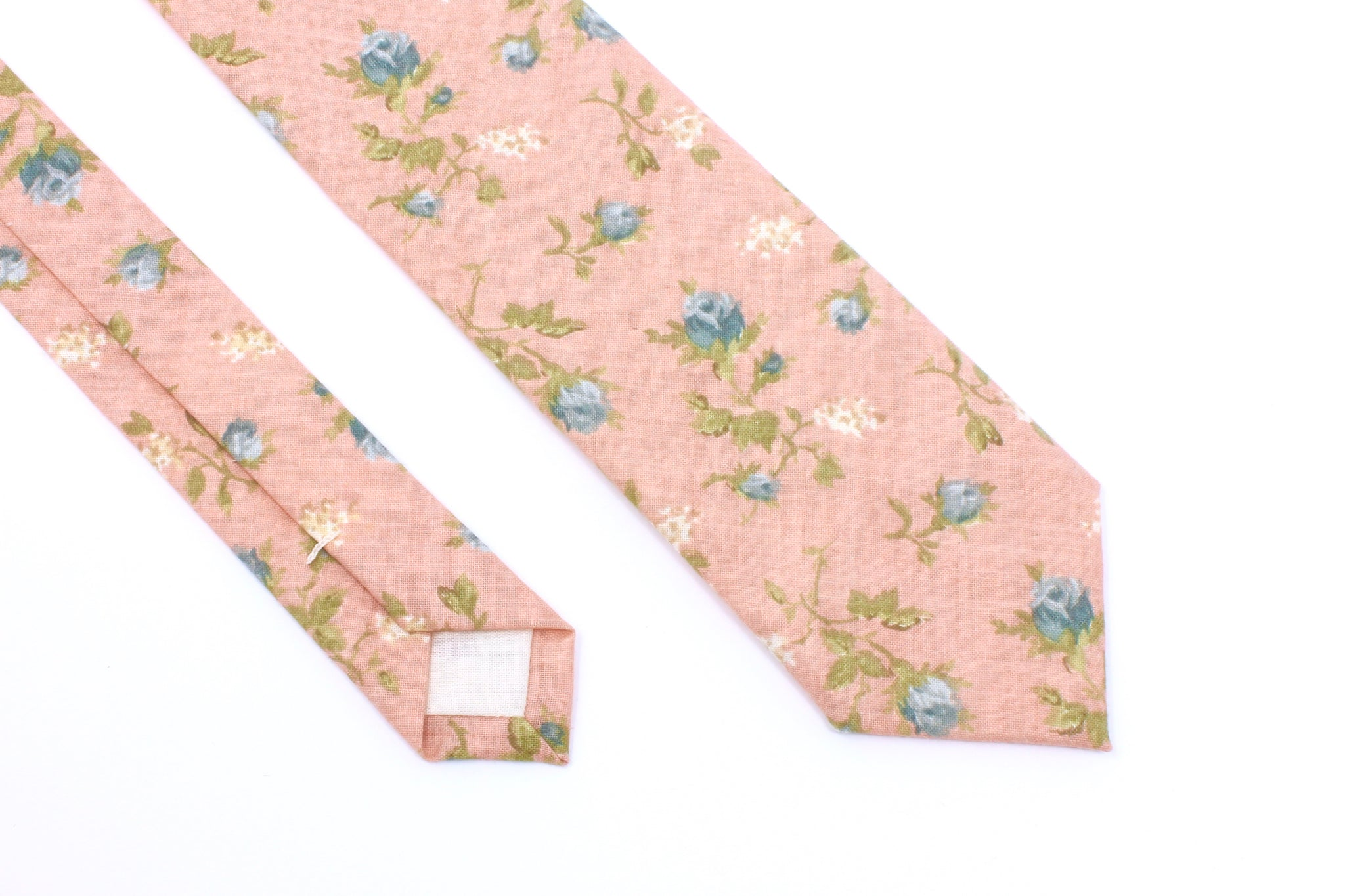Light Pink and Blue Floral Tie