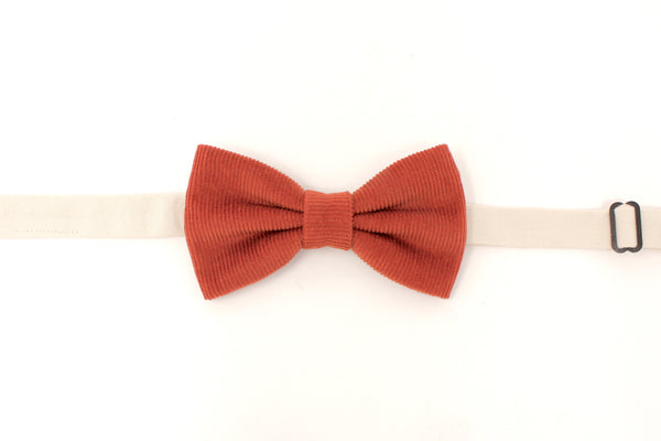 Orange Corduroy Bow Tie
