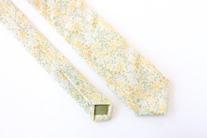 Yellow & Green Floral Skinny Tie