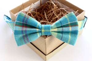 Blue Madras Children's Bow Tie