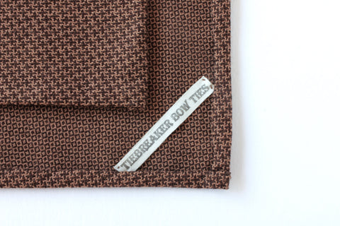 Brown Cross Pattern Pocket Square