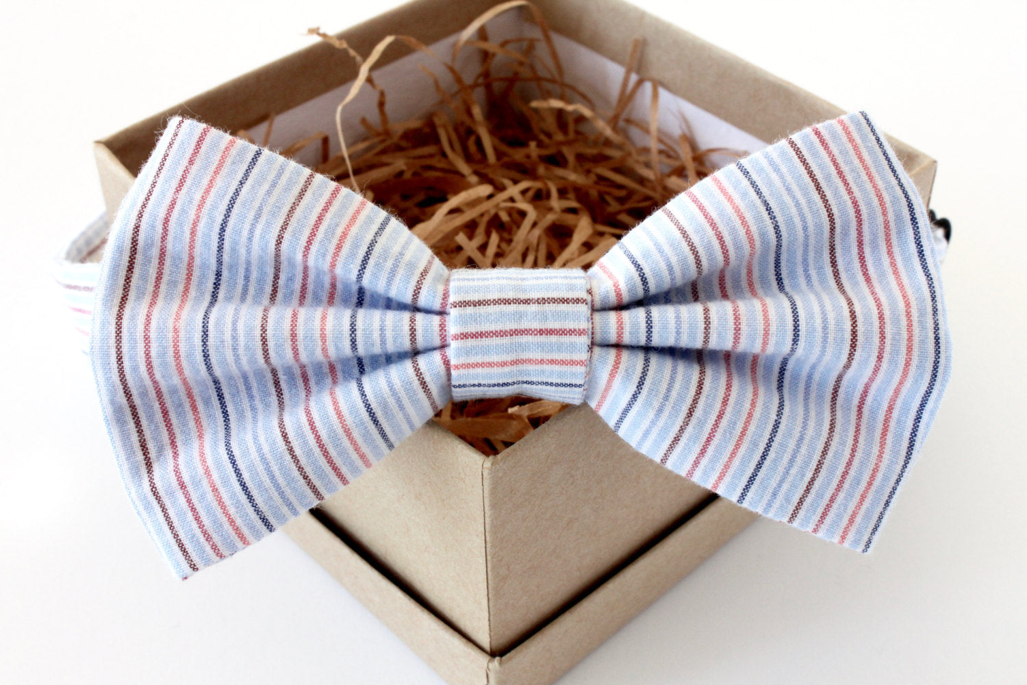 Blue Stripe Children's Bow Tie