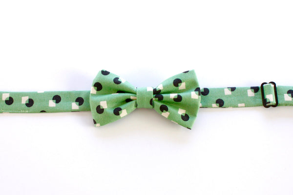 Green Geometric Children's Bow Tie