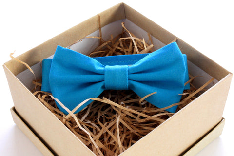 Saturated Blue Children's Bow Tie