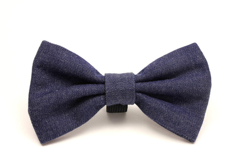 Soft Denim Dog Bow Tie