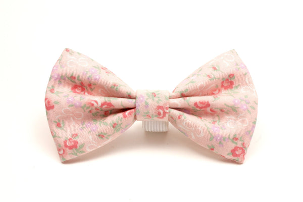 Pink Floral Dog Bow Tie