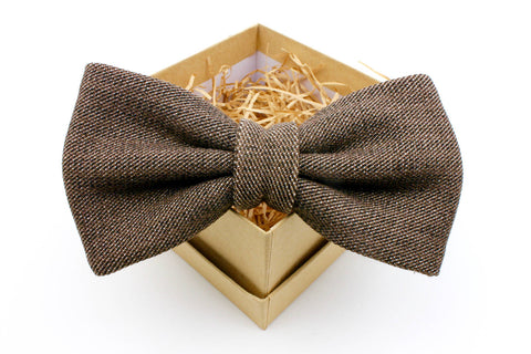 Brown and Black Bow Tie