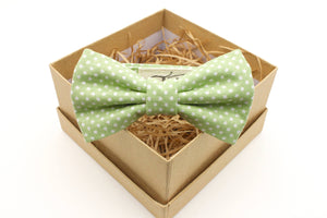 Green Polka Dot Children's Bow Tie