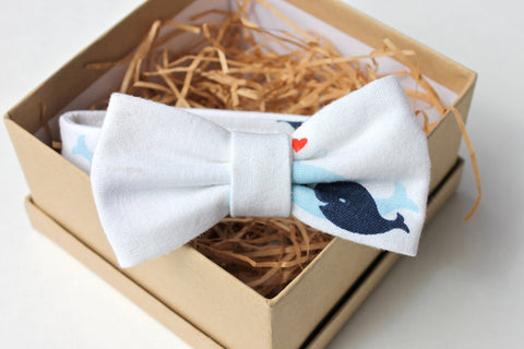 Whale Children's Bow Tie