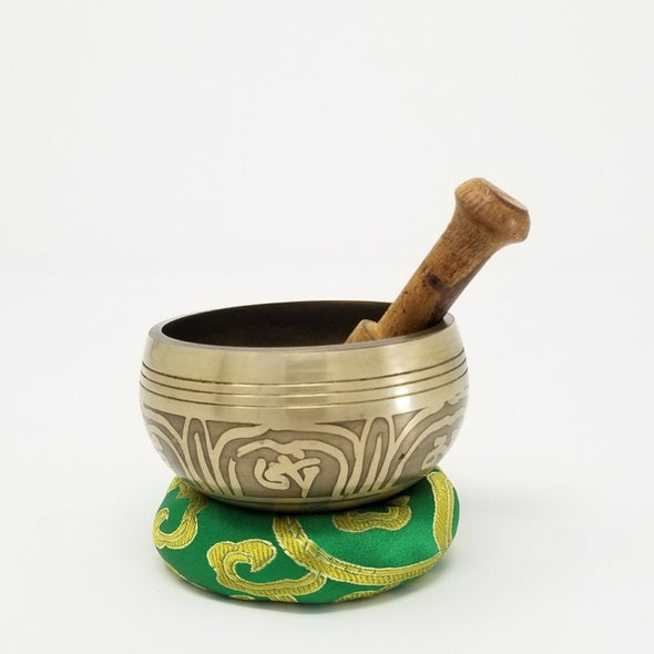 "Tibetan Singing Bowl 3"" Hand Etched Mantra"