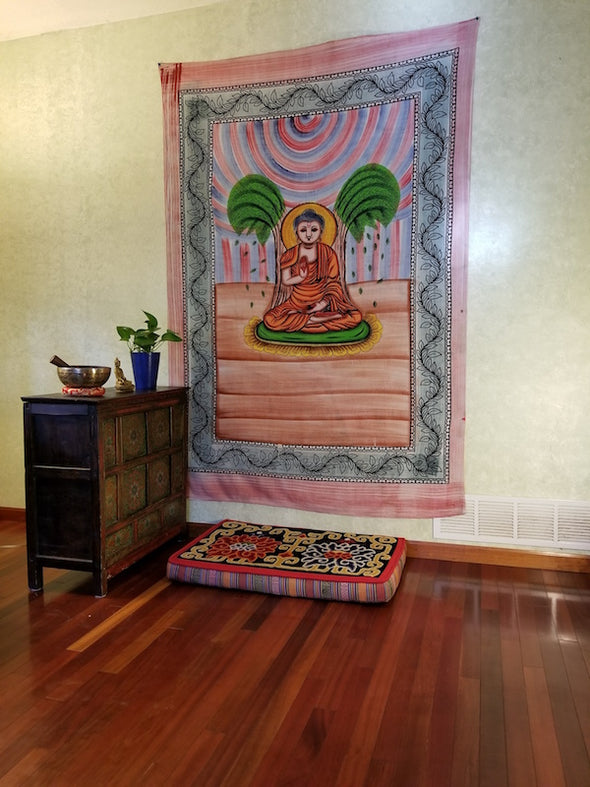 Cotton Buddha Tapestry