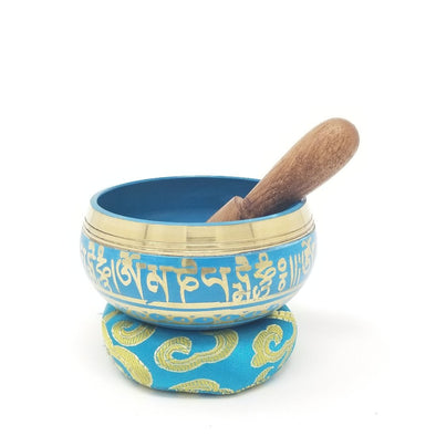 "3"" Beautiful Hand Painted Tibetan Sing Bowl Set - In Gift Box - Best seller"