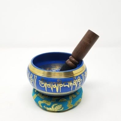 "4"" HAND PAINTED TIBETAN SINGING BOWL"
