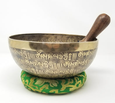 HANDMADE TIBETAN SINGING BOWL 9""