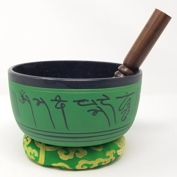 Tibetan Singing Bowl with Manjushri 7""