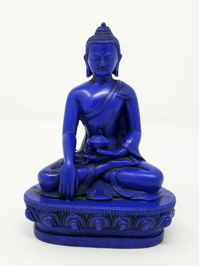 HANDMADE RESIN BUDDHA IN ENLIGHTENMENT POSITION 5.5""