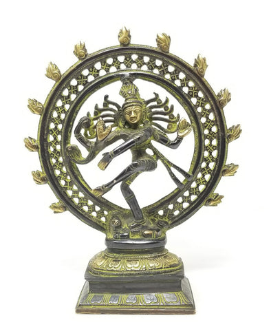 BRASS NATARAJA (KING OF DANCE) STATUE 9.5""