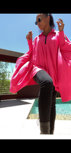 HOT PINK Sporty Poncho
