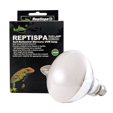 Reptispa UV Sun Lamp 160 Watts - UVB & UVA Self-Ballasted #21241-CZS