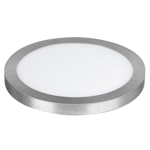 "22W LED 15"" Circular Flat Panel 4K Flush Mount Ceiling Fixture #64736-FET"