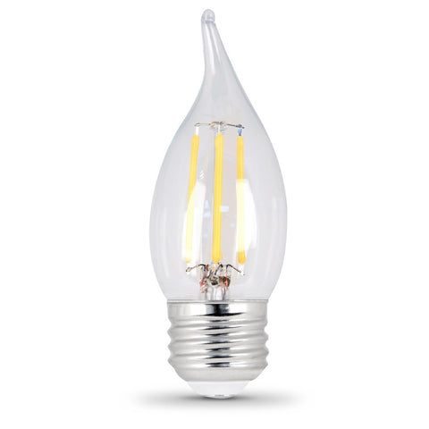 LED 4.5W Flame E26 Filament Clear DIM 50K (Case of 6 2-Packs) 64435-FETc