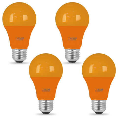 LED 3W A19 Orange (4 PACK) 61642-FETc