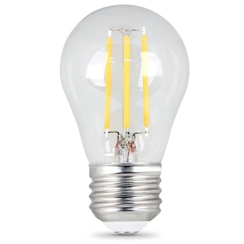 LED 4.5W A15 E26 Filament Clear DIM 27K (Case of 6 2-Packs) 61663-FETc