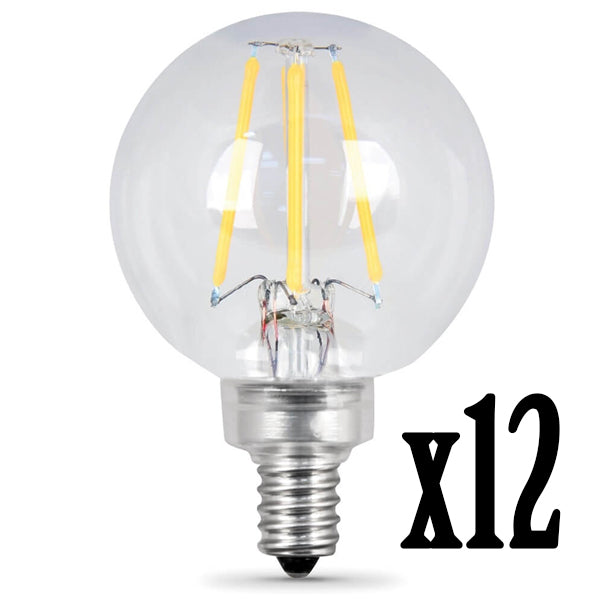LED 4.5W G16.5 E12 Filament CL DIM 27K (Case of 6 2-Packs) 61681-FETc