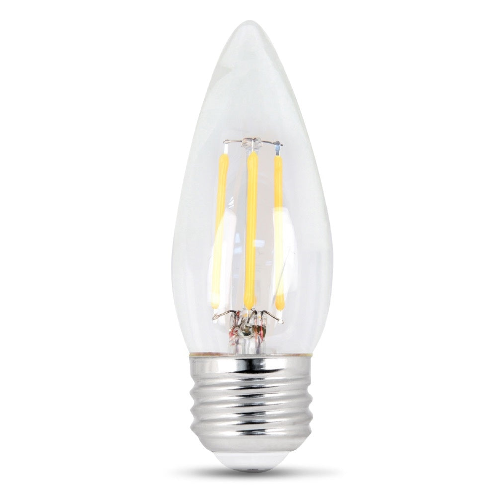 LED 7.5W Torpedo E26 Filament Clear DIM 27K (Case of 6 2-Packs) 61709-FETc
