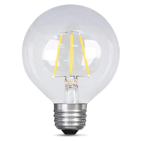 LED 4.5W G25 Filament Clear Globe Dimmable 2700K (6 Pack) 64423-FETc