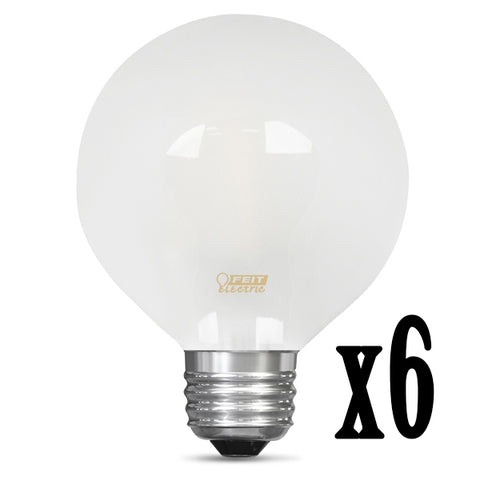 LED 3W G25 Filament Frost Globe Dimmable 2700K (6 PACK) 64422-FETc