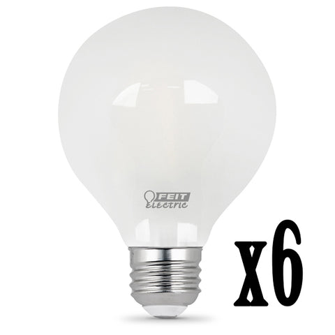 LED 4.5W G25 Filament Frost Dimmable 5000K (6 PACK) 64425-FETc