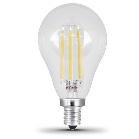 LED 4.5W A15 E12 Filament Clear DIM 50K (Case of 6 2-Packs) 64445-FETc