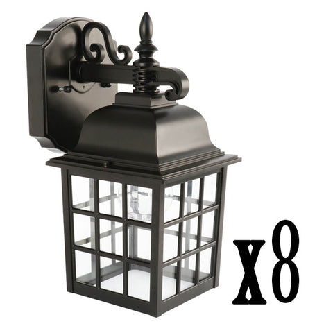 11W LED Black Security Lantern 2700K (8 PACK) 64639-FETc