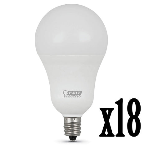 5W LED A15 (40W Equivalent) 11000hr 5000K 300 Lumen E12 Candelabra Base (18 PACK) 64711-FETc
