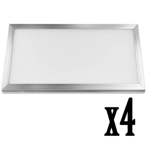 1x2ft 23W LED Flat Panel 4000K Flush Mount Ceiling Fixture (4 PACK) 64726-FETc