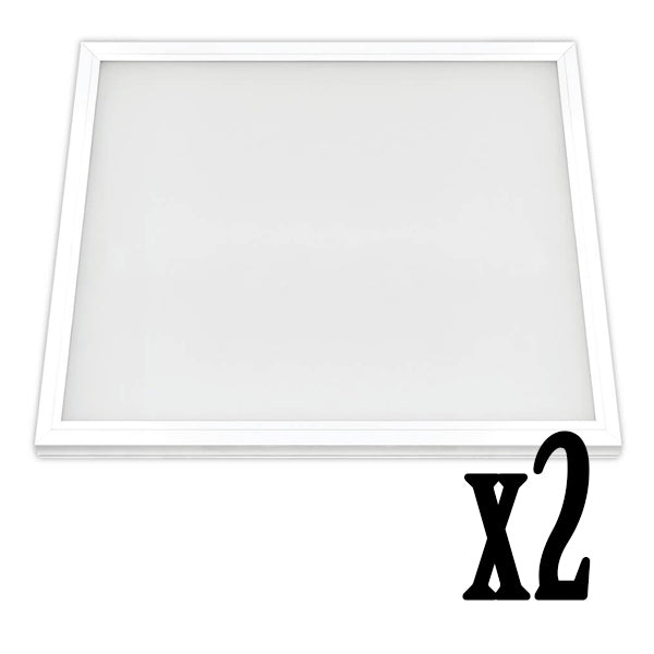 2x2ft 47W LED Flat Panel 4000K Flush Mount Ceiling Fixture (2 PACK) 64728-FETc