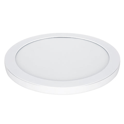 "22.5 W LED 15"" Circular Flat Panel 4K Flush Mount Ceiling Fixture #64737-FET"