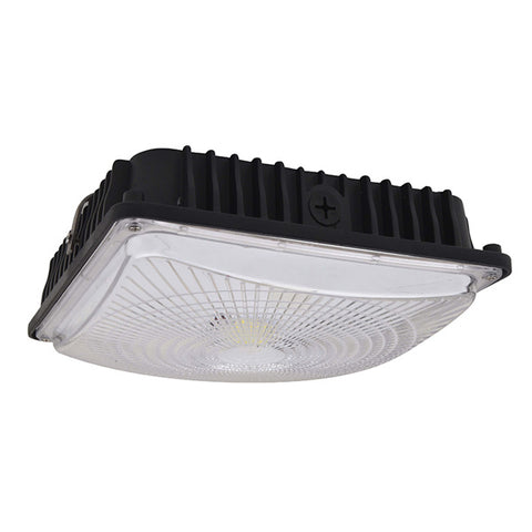 28W LED Slim Canopy (150W Equivalent) 5000K Dimmable IP65 DLC Motion Sensor Black 64689-LD