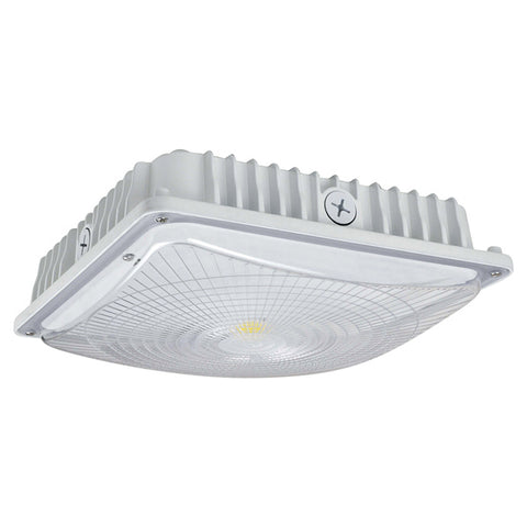 28W LED Slim Canopy (150W Equivalent) 4000K Dimmable IP65 DLC White 64863-LD