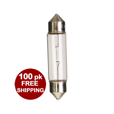 10W 12V Clear Xenon Festoon - 100 pack **Free Shipping** #40309c
