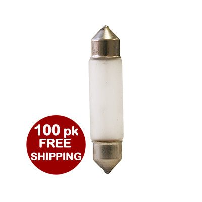 5W 12V Frosted Xenon Festoon - 100 pack **Free Shipping** #40301c