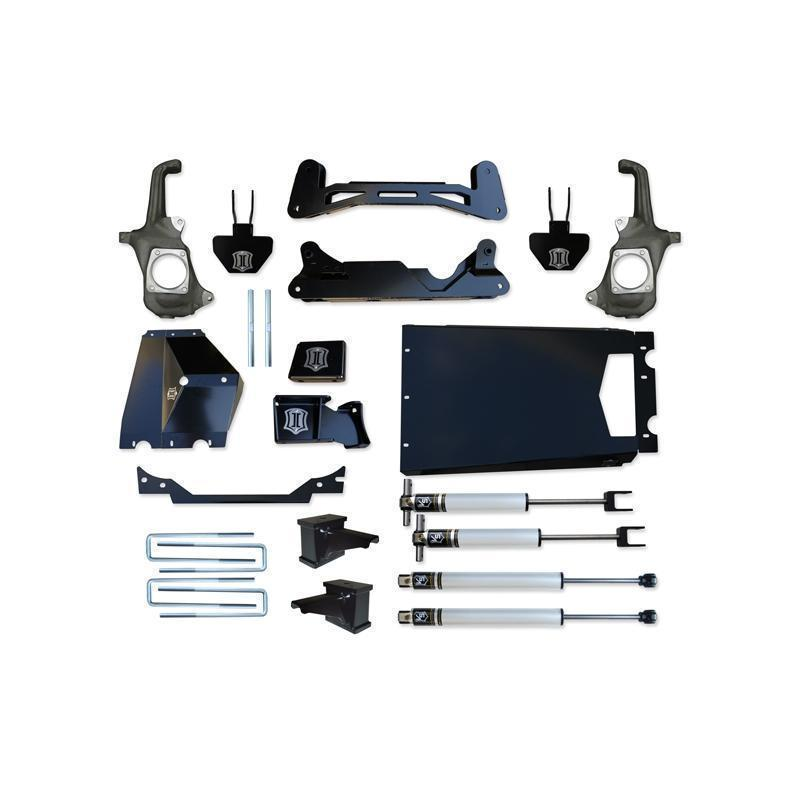 "Icon Vehicle Dynamics '11-16 Chevy/GM 2500/3500HD 6-8"" Suspension Systems with Torsion Drop"