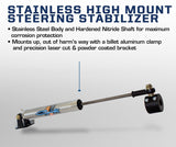 "'03-08 Dodge Ram 2500/3500 Opposing ""Y-Style"" Steering Stabilizer Kit Suspension Carli Suspension"