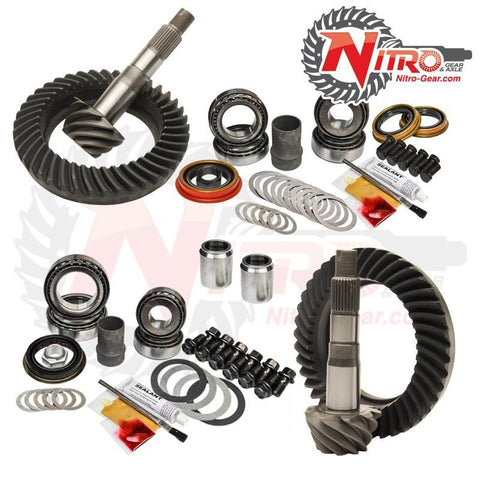'05-15 Toyota Tacoma W/O E-Locker Front and Rear Gear Package Kit Drivetrain Nitro Gear and Axle